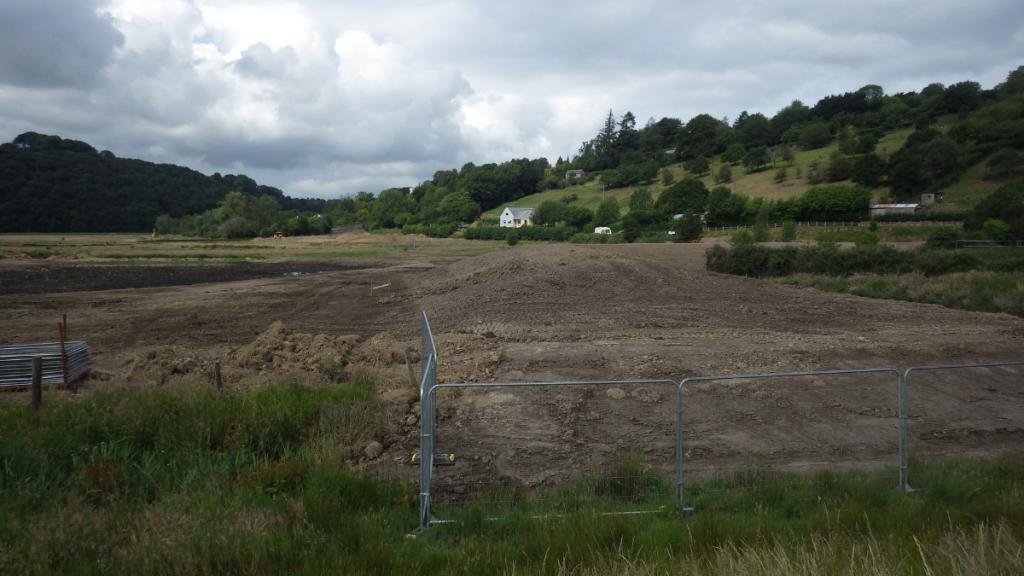 Treatment Plant Bund nearing completion