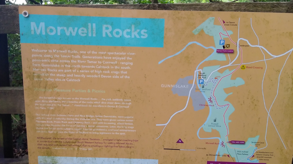 example of an interpretation board seen in the Tamar Valley