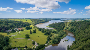 Tamar Valley Area of Outstanding Natural Beauty, drone footage